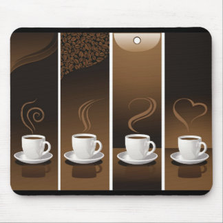 4CupsCoffee Mouse Pad