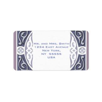 4Directions Silver&Mauve Address Label