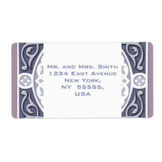 4Directions Silver&Mauve Personalized Shipping Label