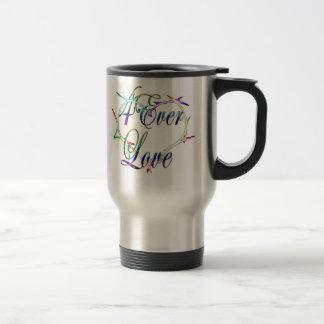 4Ever Love logo travel mug