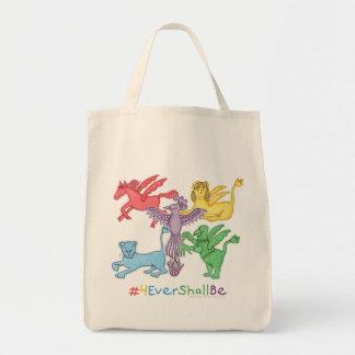 #4EverShallBe Grocery Tote Bag