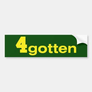 4gotten - Green BumperSticker Bumper Sticker