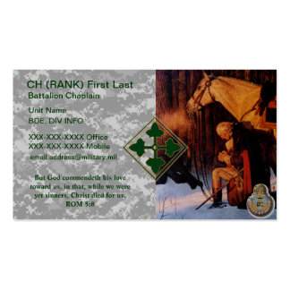 4ID Chaplain Business Card