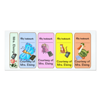 4in1 Personalized Back to School Bookmarks for Kid Card