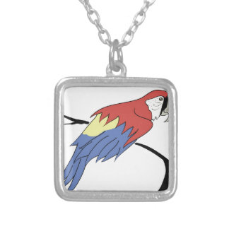 4parrot silver plated necklace