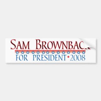4prez-brownback bumper sticker