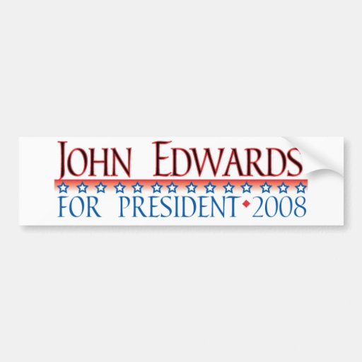 4prez-edwards pegatina de parachoque