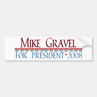 4prez-gravel bumper sticker