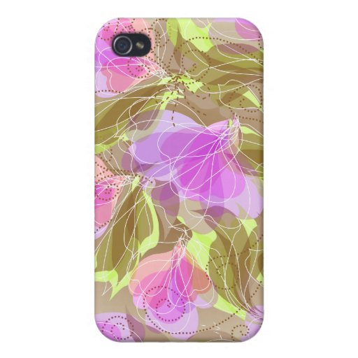 4s floral abstracto iPhone 4 protector