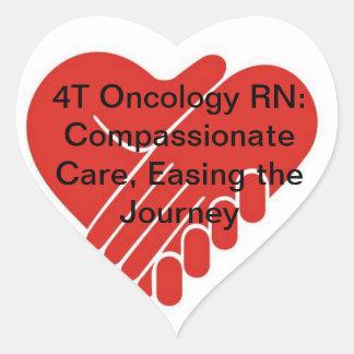 4T oncología RN Pegatina En Forma De Corazón