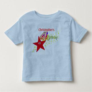 4ta camisa del cumpleaños de la estrella sonriente