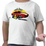 4ta camisa del cumpleaños del coche de carreras