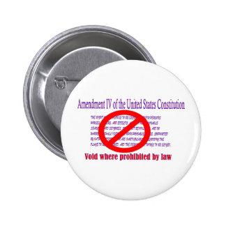 4ta enmienda - vacío donde prohibido por la ley pin redondo de 2 pulgadas