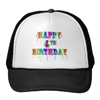 4ta fuente feliz del circo del cumpleaños gorro