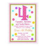 4ta invitación del cumpleaños de la sorpresa dulce