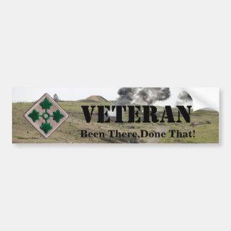 4ta pegatina para el parachoques de los veteranos  etiqueta de parachoque