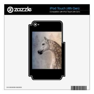4ta piel de la GEN del caballo del tacto árabe de iPod Touch 4G Calcomanías