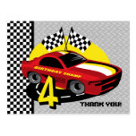 4ta postal del cumpleaños del coche de carreras