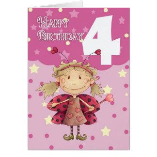4ta tarjeta de cumpleaños con la hada linda de la
