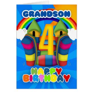 4ta tarjeta de cumpleaños del nieto con el castill