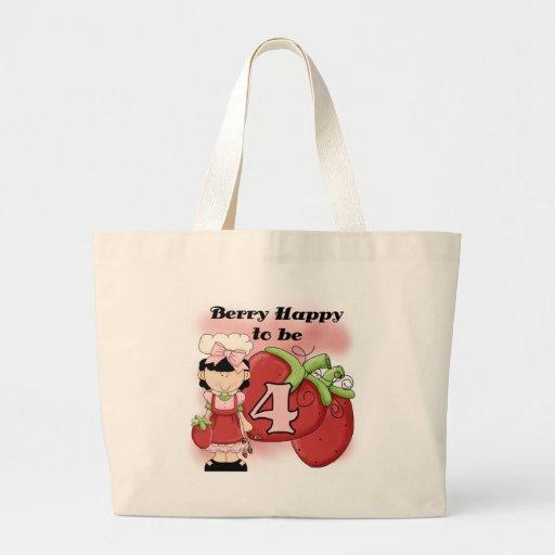 4tas camisetas y regalos del cumpleaños de la baya bolsas lienzo