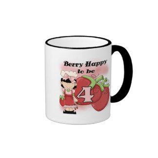 4tas camisetas y regalos del cumpleaños de la baya tazas de café