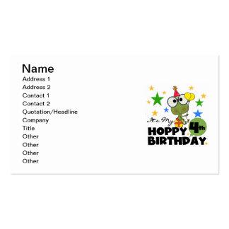 4tas camisetas y regalos del cumpleaños de la rana tarjetas de visita
