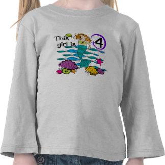 4tas camisetas y regalos del cumpleaños de la sire