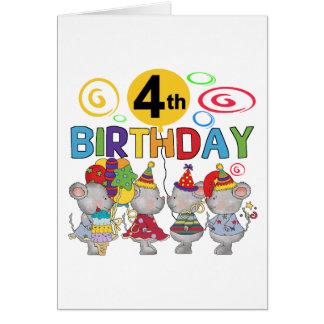 4tas camisetas y regalos del cumpleaños de los rat tarjeta de felicitación