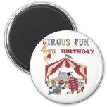 4tas camisetas y regalos del cumpleaños del circo imán de frigorífico