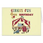 4tas camisetas y regalos del cumpleaños del circo tarjeton