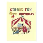 4tas camisetas y regalos del cumpleaños del circo postal