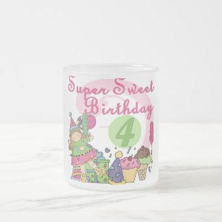 4tas camisetas y regalos del cumpleaños del dulce  taza de café