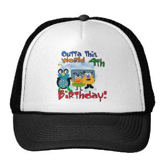 4tas camisetas y regalos del cumpleaños del espaci gorra