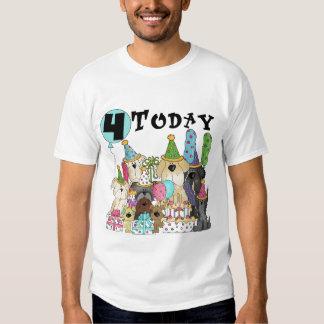 4tas camisetas y regalos del golpe del cumpleaños playera