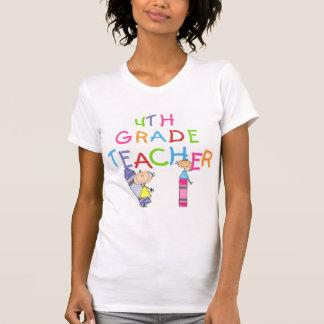 4tas camisetas y regalos del profesor del grado de polera