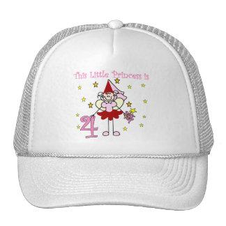 4tas cumpleaños camisetas y regalos de la princesa gorros bordados