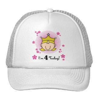 4tas cumpleaños camisetas y regalos de la princesa gorro