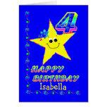 4tas estrellas del cumpleaños del nombre de encarg felicitacion