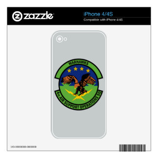 4th Air Support Operations Squadron - Warhawks Skins For iPhone 4S