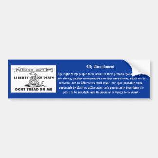 4th Amendment Car Bumper Sticker