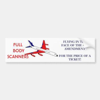 4TH AMENDMENT HIJACK CAR BUMPER STICKER