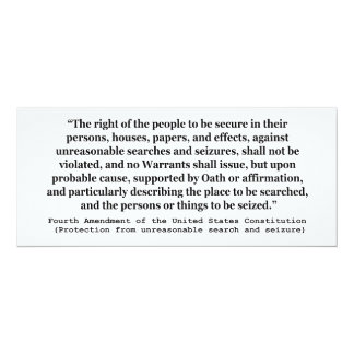 4th Amendment of the United States Constitution Card