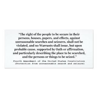 4th Amendment of the United States Constitution Personalized Invite