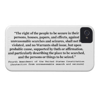4th Amendment of the United States Constitution iPhone 4 Case-Mate Case