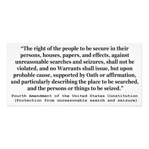 4th Amendment of the United States Constitution Photograph