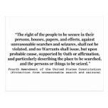 4th Amendment of the United States Constitution Postcards
