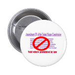 4th Amendment - Void where prohibited by law 2 Inch Round Button
