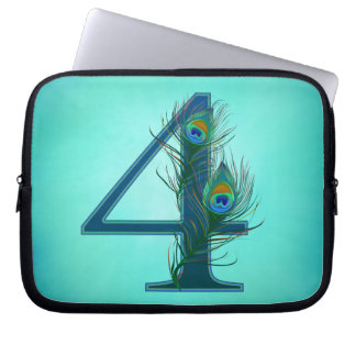 4th anniversary / 4 / 4th / number 4 computer sleeve
