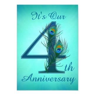 4th Anniversary invitation cards 4